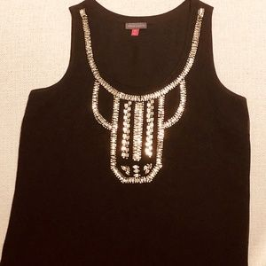 Vince Camuto Beaded Party Top